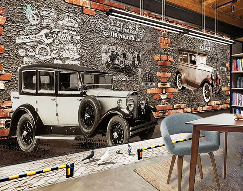 digitally printed wallpaper old